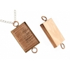 Bezel Handmade Link Rectangle 19x29x4mm Copper